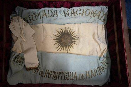 En el museo de la Infantería de Marina en la base Baterías se atesoran 121 años de historia de este componente del poder naval de la Nación