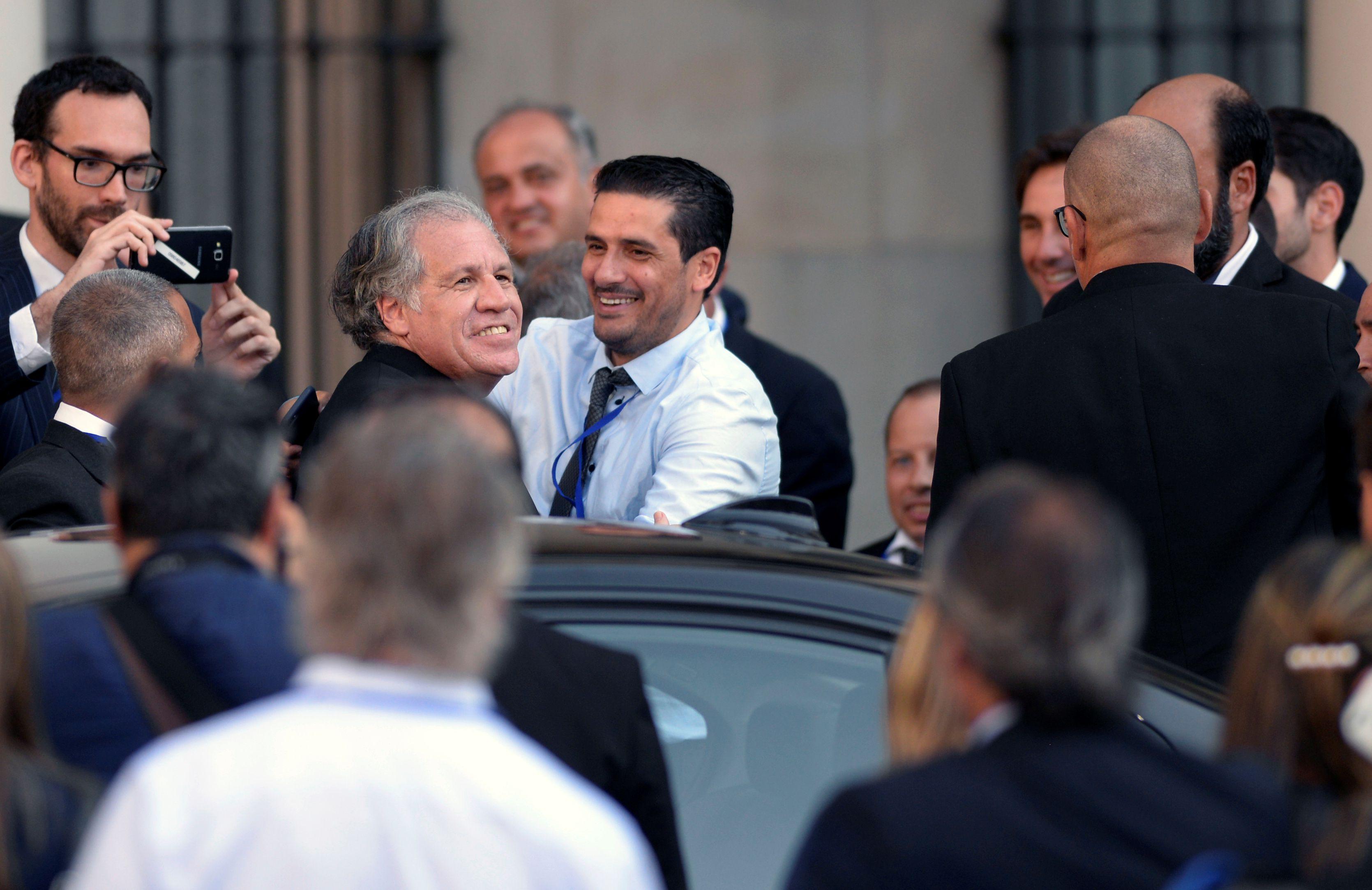 Luis Almagro, secretario general de la OEA, durante los actos de asunción del presidente Luis Lacalle Pou