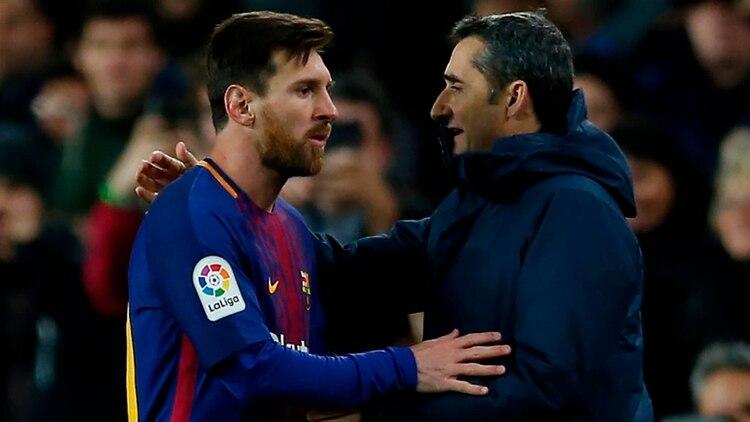 Lionel Messi respaldó a Ernesto Valverde, uno de los principales apuntados por los resultados de la última temporada