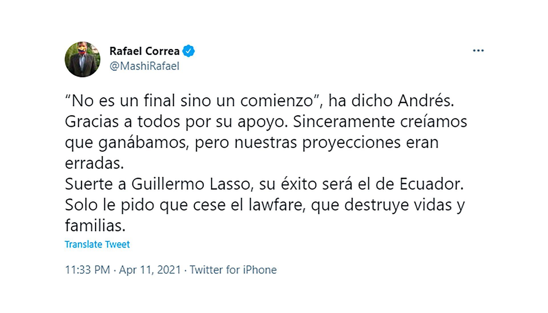 rafael correa guillermo lasso elecciones ecuador