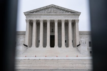 FILE -- The Supreme Court in Washignton on Jan. 25, 2021. The court has become far more likely to rule in favor of religious rights in recent years, according to a new study that considered 70 years of data. (Anna Moneymaker/The New York Times)