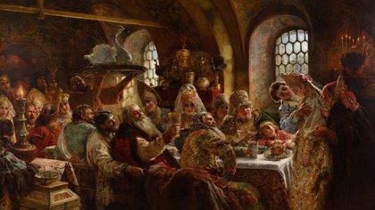 """La belleza del día: """"Un banquete de bodas boyardo"""", de Konstantin Makovski"""