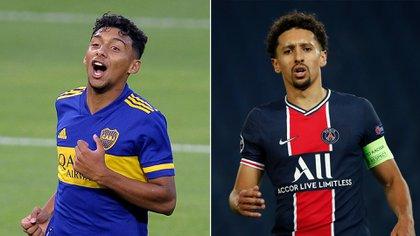 Medina y Marquinhos, el parecido que encontraron los colombianos del plantel de Boca