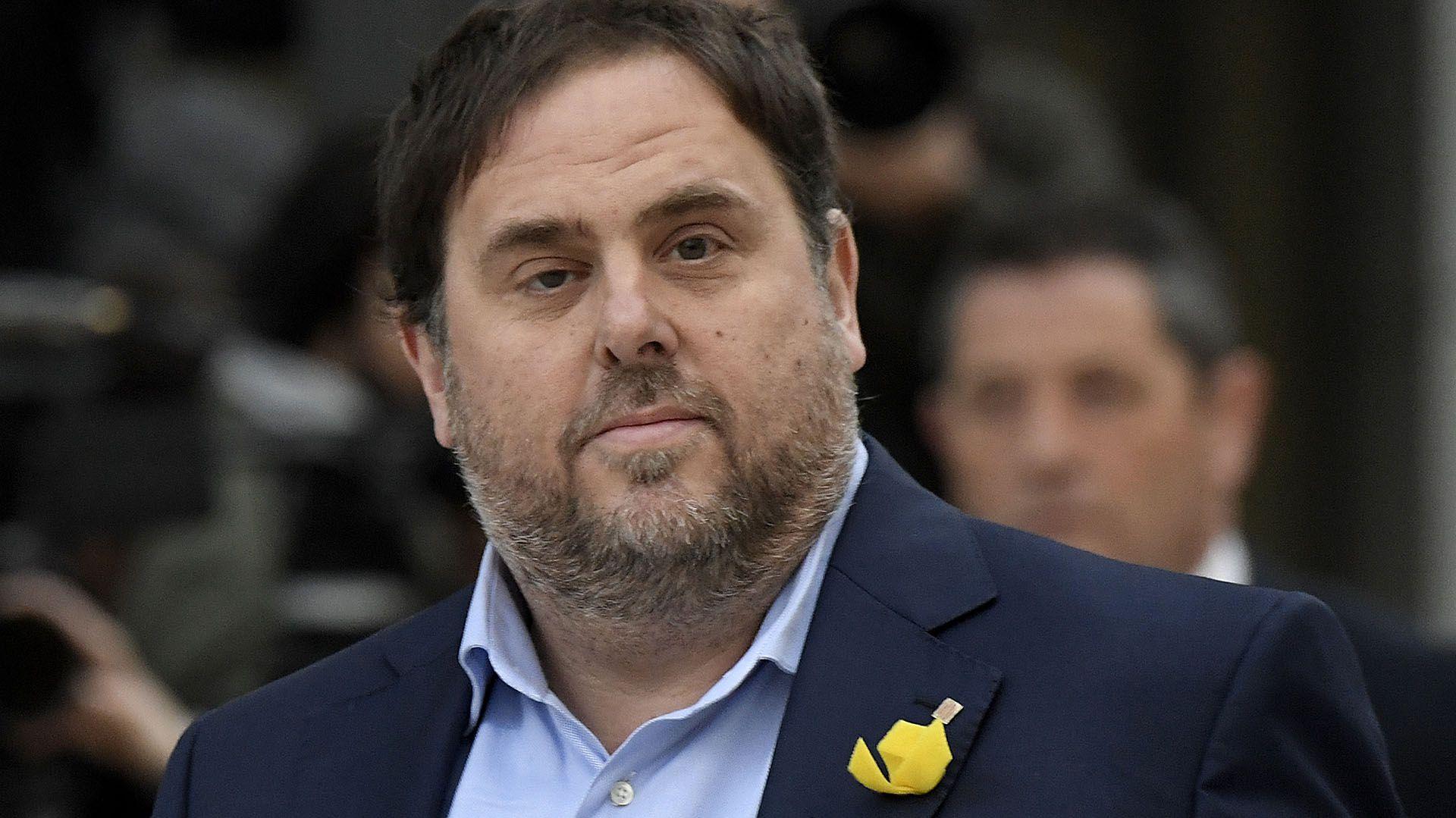 El líder independentista Oriol Junqueras en una foto de 2017. (GABRIEL BOUYS / AFP)