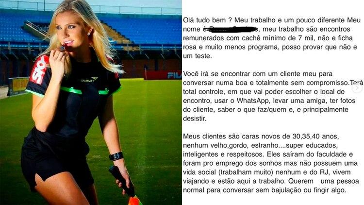 Fernanda Colombo publicó la propuesta sexual que recibió en las redes sociales