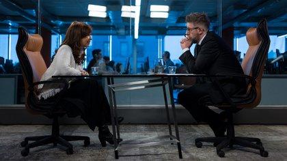 Frente a frente: Cristina Fernández de Kirchner y Luis Novaresio (Foto: Adrián Escandar)
