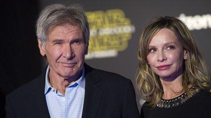 Harrison Ford junto a Calista Flockhart