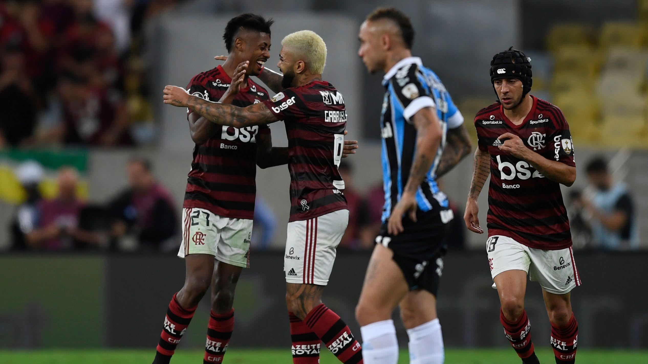 Flamengo eliminó a Gremio y jugará la final de la Copa Libertadores ante River (Photo by MAURO PIMENTEL / AFP)