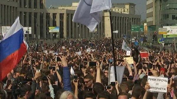 Miles de jóvenes se movilizaron contra la censura