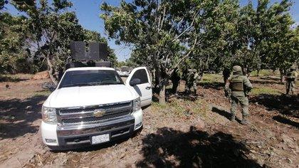 Una automóvil blindado y artillado fue decomisado (Foto: SSP Sinaloa)