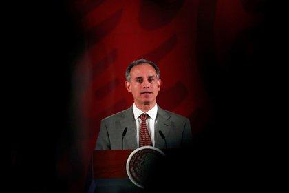 El subsecretario de Salud, Hugo López-Gatell, durante una conferencia de prensa sobre la pandemia del coronavirus (Foto: Henry Romero/ Reuters)