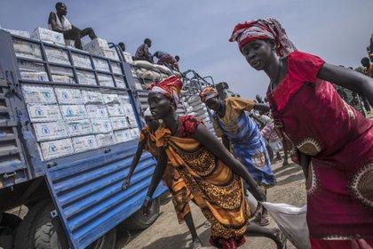 05/02/2019 Reparto de alimentos por parte del PMA en la localidad de Karam, en Sudán del Sur POLITICA SUR DE SUDÁN AFRICA INTERNACIONAL WFP/GABRIELA VIVACQUA