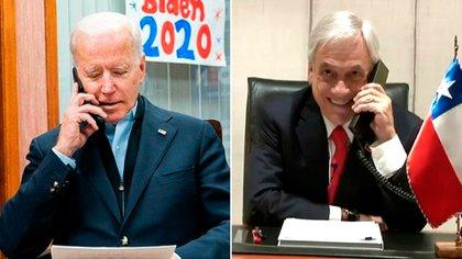 Joe Biden y Sebastián Piñera