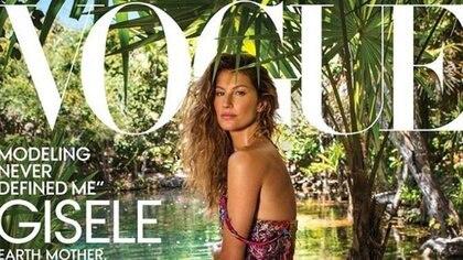 Gisele Bündchen en la portada de la edición estadounidense de Vogue