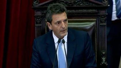 Sergio Massa, presidente de la Cámara de Diputados, uno de los impulsores de los cambios en Ganancias