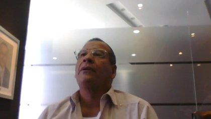 Asterio Caballero Ibarra durante su declaración vía Zoom