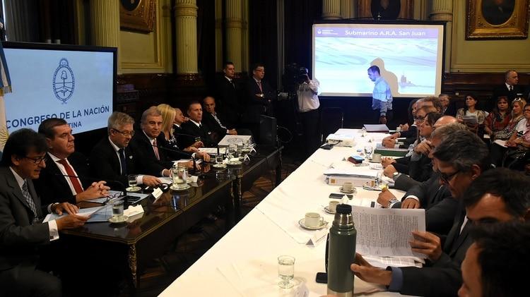 El ministro de Defensa, cuando participó de una reunión de la Comisión Bicameral (Nicolás Stulberg)