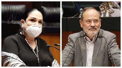 Mónica Fernández Balboa y Gustavo Madero (Foto: Especial)