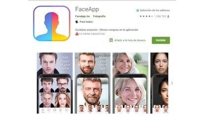 FaceApp está disponible para iOS y Android (Foto: Captura de Pantalla)