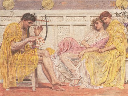 """Un músico"" de Albert Joseph Moore"