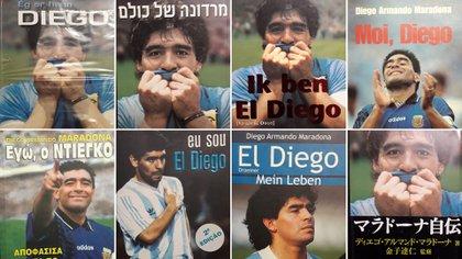 Las distintas traducciones que tuvo la biografía de Maradona