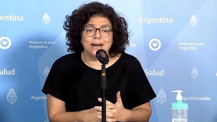 La secretaria de Acceso a la Salud de la Nación, Carla Vizzotti