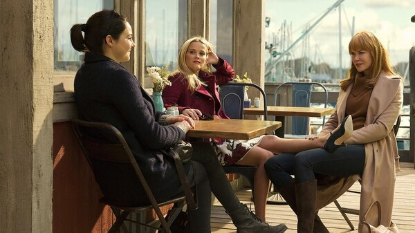 "Reese Witherspoon, Shailene Woodley y Nicole Kidman en ""Big Little Lies"""