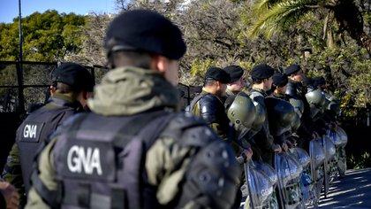 Gendarmería custodió la cumbre de ministros de Finanzas en julio de 2018 (Gustavo Gavotti)