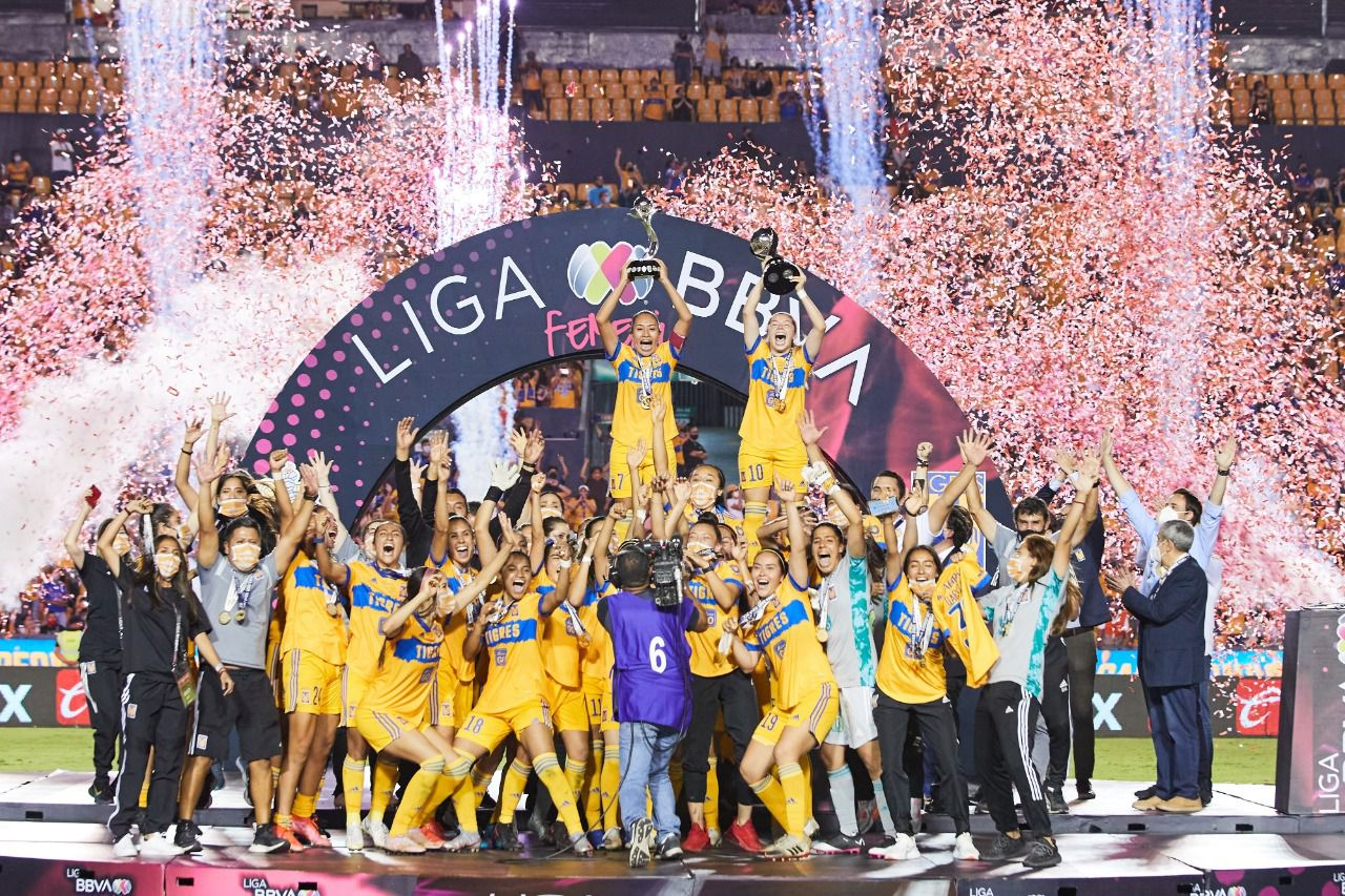 Tigres Femenil se coronó campeón de la Liga MX Femenil y consiguió el bicampeonato