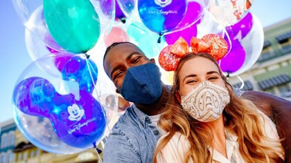 When Walt Disney World Resort theme parks in Lake Buena Vista, Fla., begin their phased reopening July 11, 2020, all guests 2 years of age and older will be required to wear an appropriate face covering at all times, except when eating and drinking while dining. (Caitie McCabe, photographer) Walt Disney World
