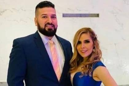 Karla Panini llegó al altar con Américo Garza en 2017  (Foto: Twitter@KarlaPaninii)