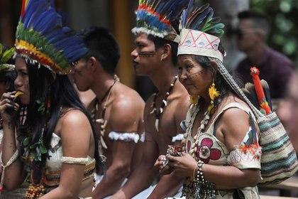 Las comunidades indígenas del Amazonas colombianos están entre las etnias más afectadas por el coronavirus en el país. REUTERS/Luisa Gonzalez