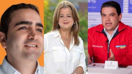 Vicente Blel, Elsa Noguera y Nicolás García. Fotos: Twitter - Archivo Particular