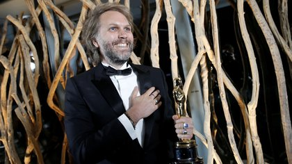 Florian Zeller y su galardón por Mejor Guión Adaptado (Foto: REUTERS)