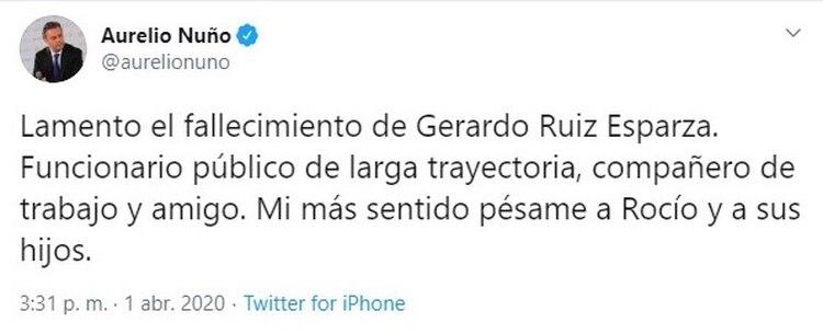 Aurelio Nuño (Foto: Twitter@aurelionuno)
