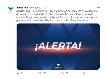La denuncia de Venepress