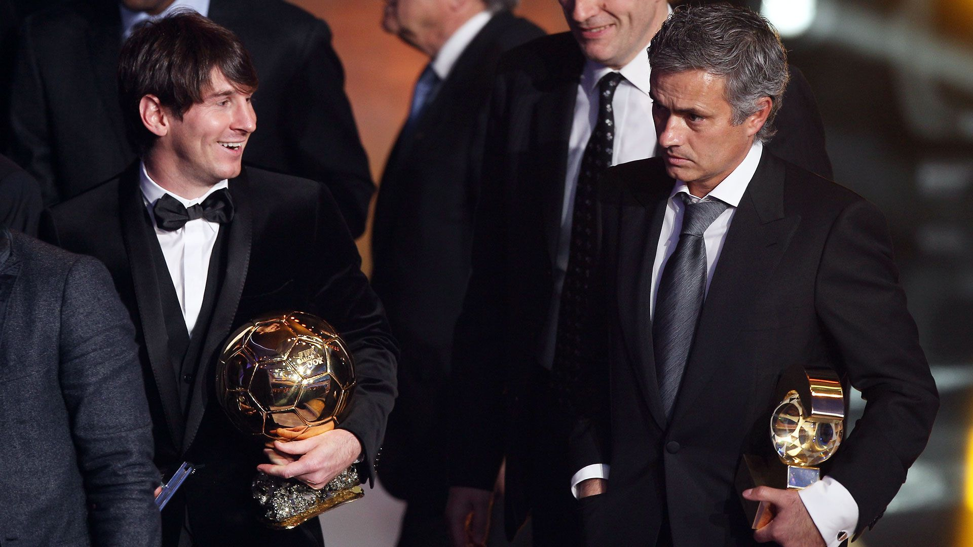 Lionel Messi y José Mourinho (EFE)