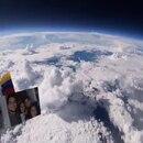 Vista de La Tierra desde la estratosfera, imagen captada por el experimento de Faber Burgos Sarmiento.