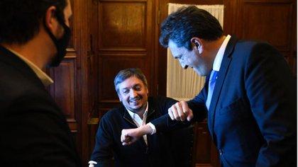 Choque de codos entre Máximo Kirchner y Sergio Massa