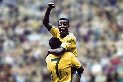 El Azteca también fue testigo de la icónica celebración de Pelé durante el Mundial de 1970, la misma que imitó Messi a principios de este año con la camiseta del Barça en la Liga (Foto: especial)