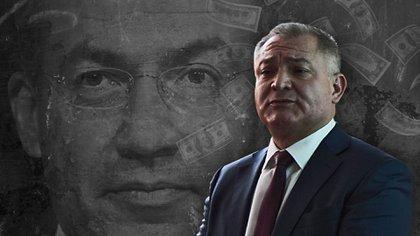 Genaro García Luna será procesado en EEUU por el mismo delito que Joaquín El Chapo Guzman (Fotoarte: Infobae, Jovani Silva)