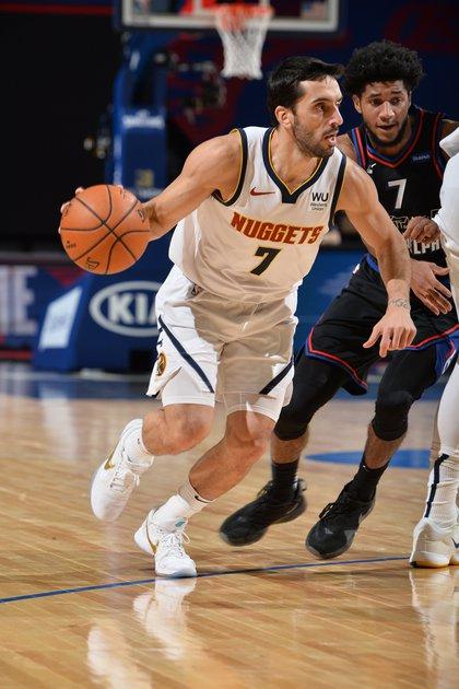 Facundo en una nueva victoria de Denver Nuggets. (@NBA)