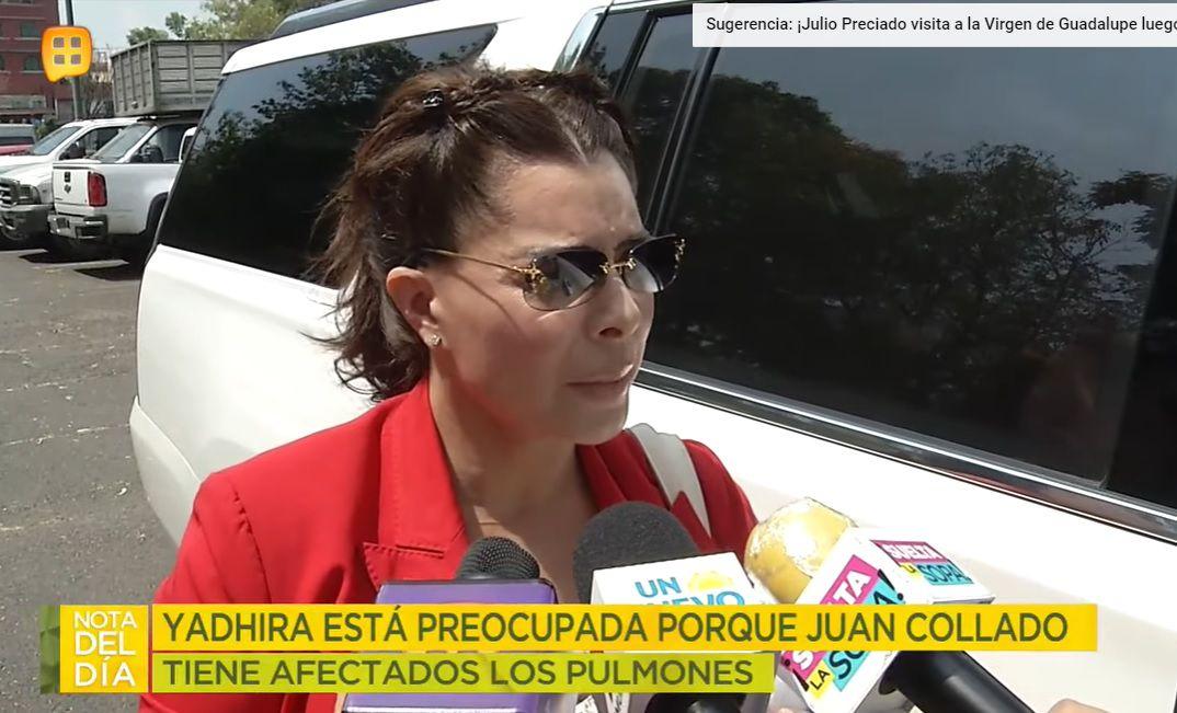 Yadhira Carrillo en el Reclusorio Norte para visitar a su esposo, el abogado Juan Collado