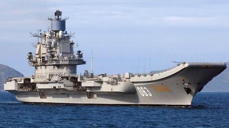 El portaaviones ruso Almirante Kuznetsov formó parte del dispositivo militar de Rusia en Siria, hasta entrar en mantenimiento en 2017