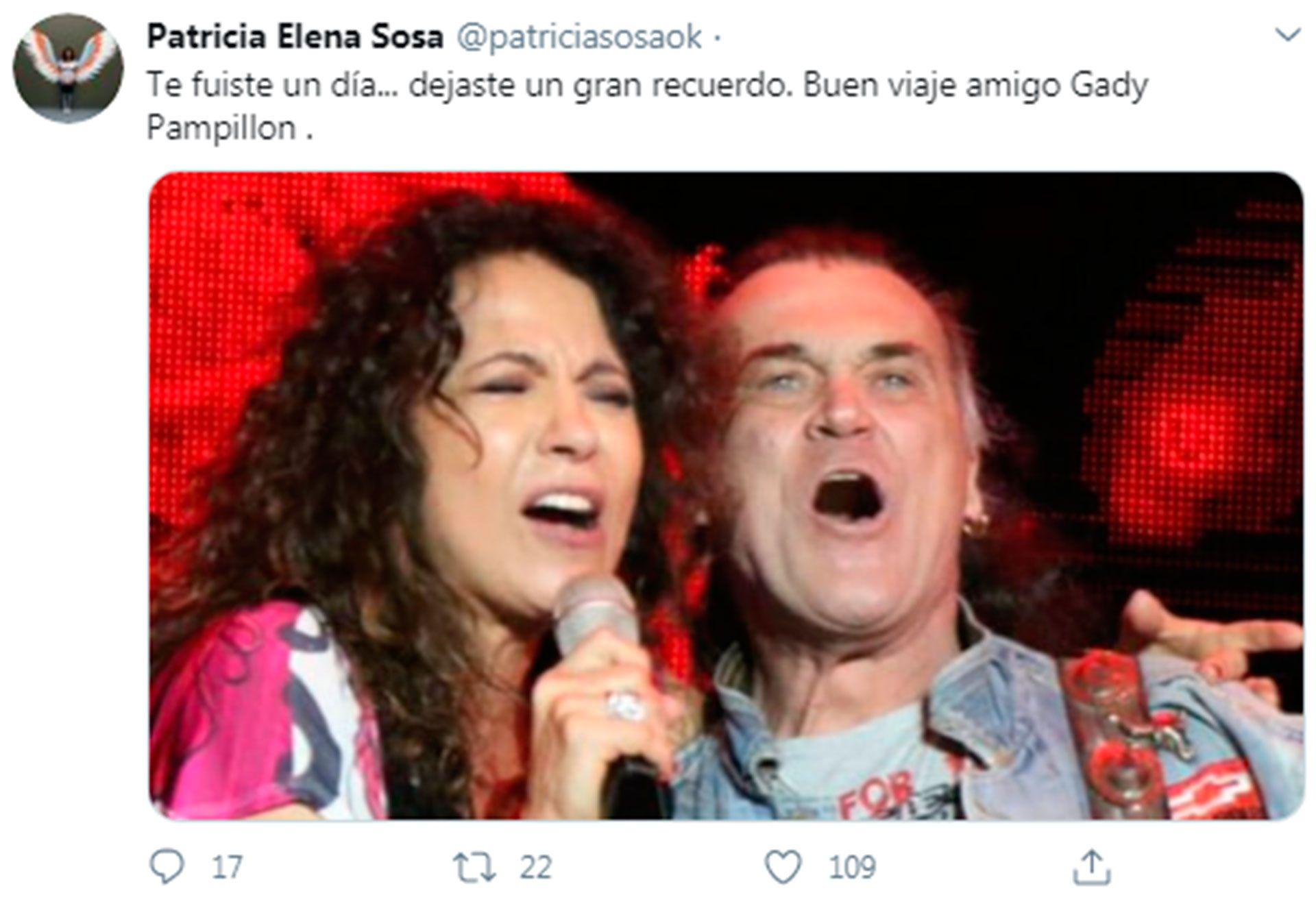 Mensaje de Patricia Sosa por Gady Pampillón