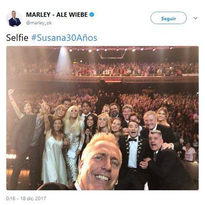 La selfie tomada por Marley