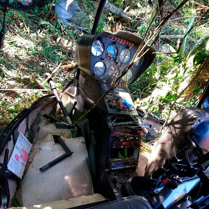 El piloto escapó y permanece prófugo (GCM/Divulgação)