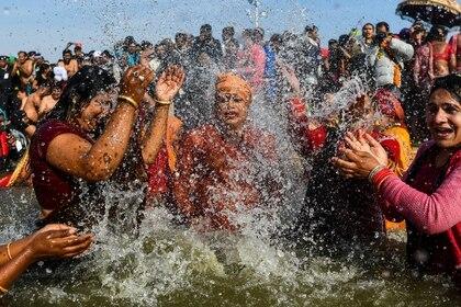 El Ganges, río sagrado para el hinduismo (Chandan Khanna/ AFP)