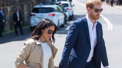 Meghan Markle y el príncipe Harry (REUTERS)