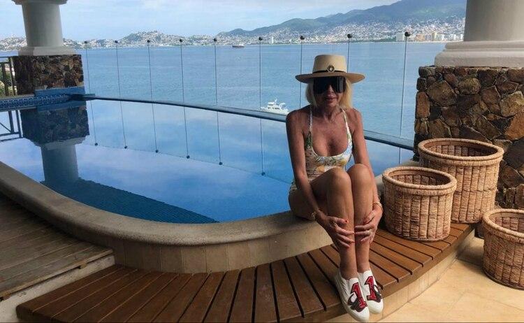 Laura Bozzo viajó a Acapulco para celebrar su cumpleaños hace un par de semanas (Foto: Mariana Dahbar/ Infobae México)